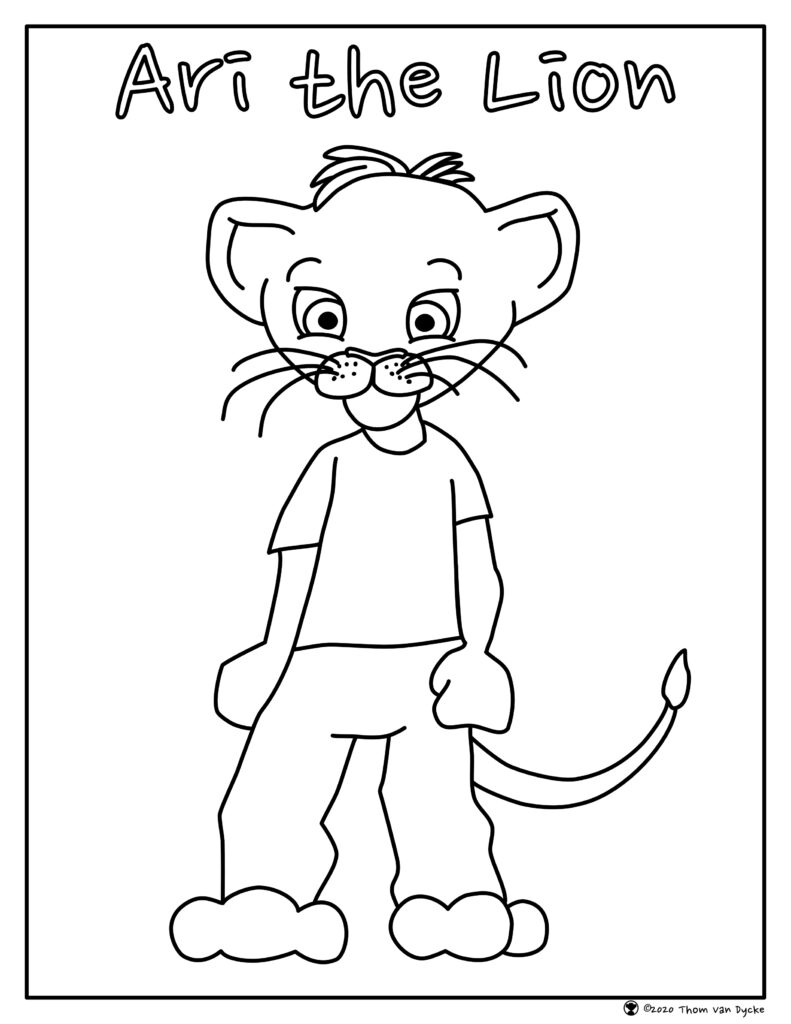 Ari the Lion Colouring Page