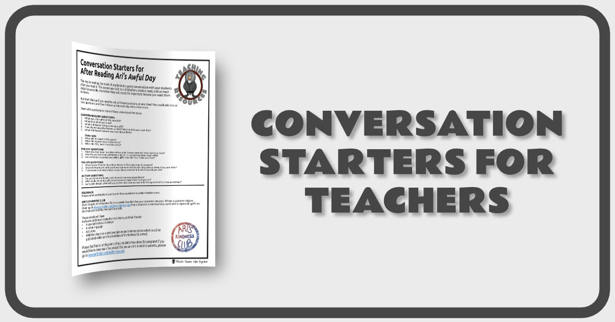Conversation Starters for Teachers Banner
