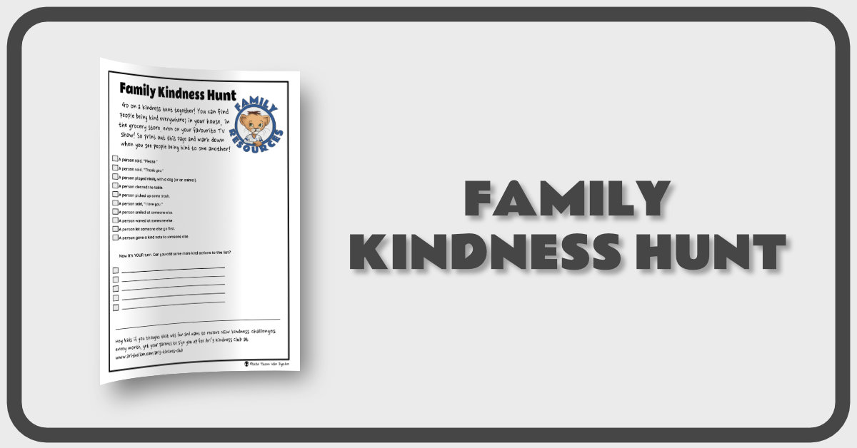 Family Kindness Hunt Banner