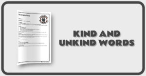 Kind and Unkind Words