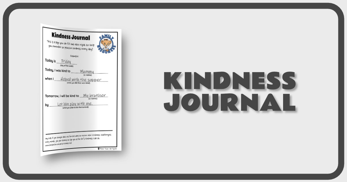 Kindness Journal Banner
