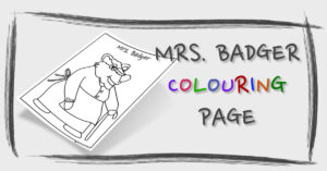 Mrs. Badger Colouring Page